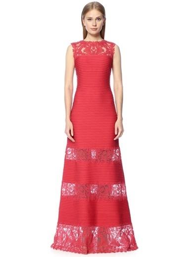 Dantelli Uzun Abiye Elbise-Tadashi Shoji
